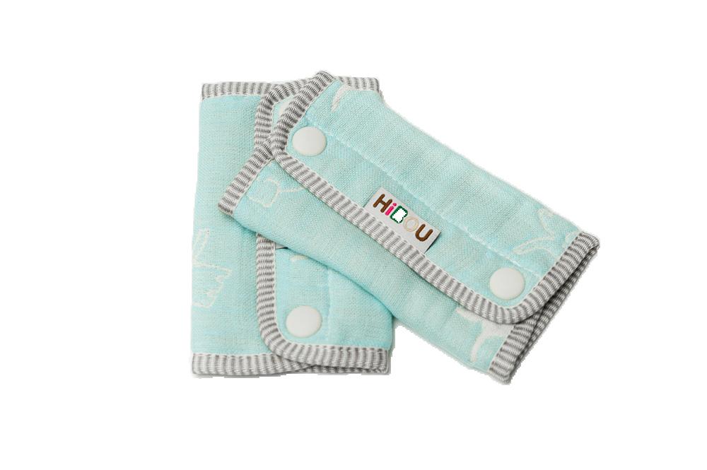 HiBOU-六重紗-背帶防污口水巾(夢幻藍象)