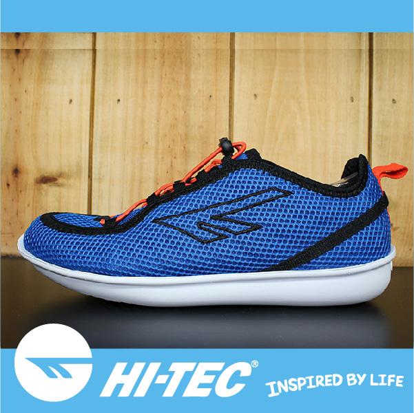 萬特戶外運動 HI-TEC ZUUK 男絲瓜鞋 極輕樂步 旅行必備便鞋 免綁鞋帶 男款藍色