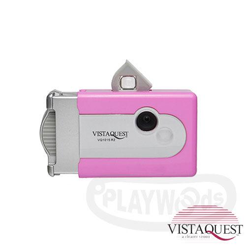【Playwoods】[VISTAQUEST]VQ1015 R2-玫瑰粉 數位相機(香港限量色)(復古/小相機/懷舊/暗角效果/攜帶方便)