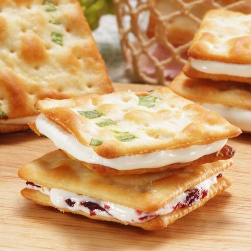 【一之軒甜心牛軋餅14入禮盒】日韓客來台指定!嚴選海藻糖、甜度減半風味更清爽~原味香蔥/蔓越莓兩種口味