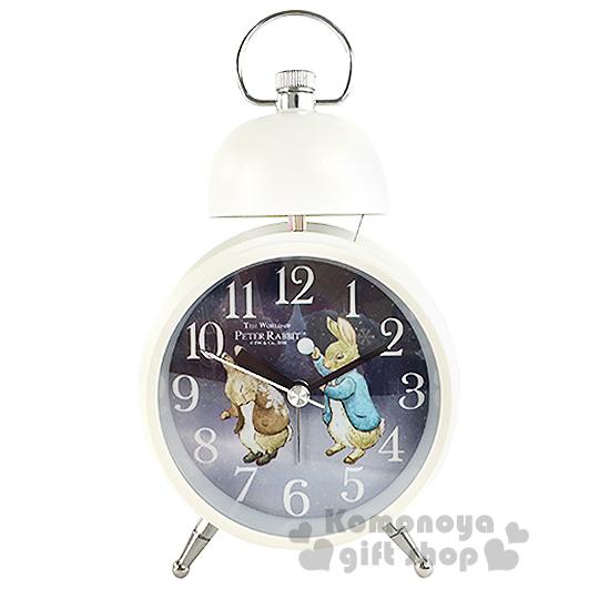 〔小禮堂〕Peter Rabbit 彼得兔 單鈴鬧鐘《白.丟雪球》實用擺飾