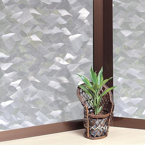 【零碼】日本MEIWA抗UV節能3D靜電窗貼 (片片星鑽) - 50x91公分