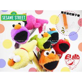 日潮夯店 日本正版 ELMO 芝麻街 7種色彩  黑色油性原子筆 毛絨 娃娃 造型