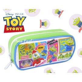 日潮夯店 日本正版 玩具總動員 TOY STORY  三眼怪 ALIEN 防水 漫畫風 夾娃娃機 筆袋 化妝包 收納包