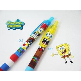 日本正版進口_Spongebob海綿寶寶_日本製 黑色油性原子筆 美味蟹堡(共兩款)0.7mm