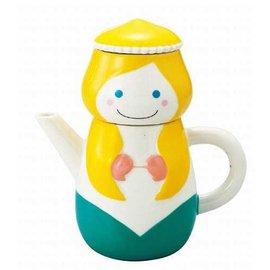 日本進口 童話風格_SUNART TEA FOR ONE  小美人魚 茶壺茶杯組