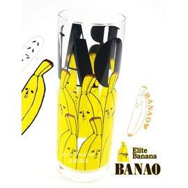 日潮夯店 日本製 日本正版 BANAO 香蕉先生 バナ夫  玻璃 水杯 果汁杯 推薦! 超可愛!