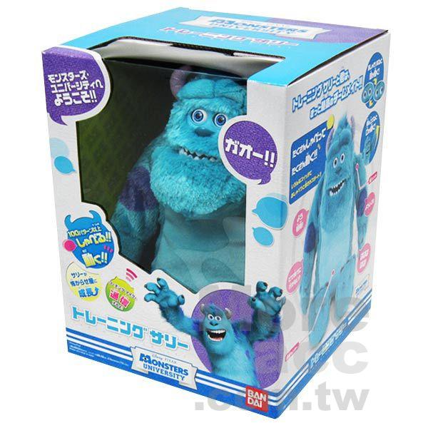 [日潮夯店] 日本正版進口 Pixar皮克斯 怪獸大學/怪獸電力公司 毛怪 講話 發聲 可動 絨毛娃娃 公仔