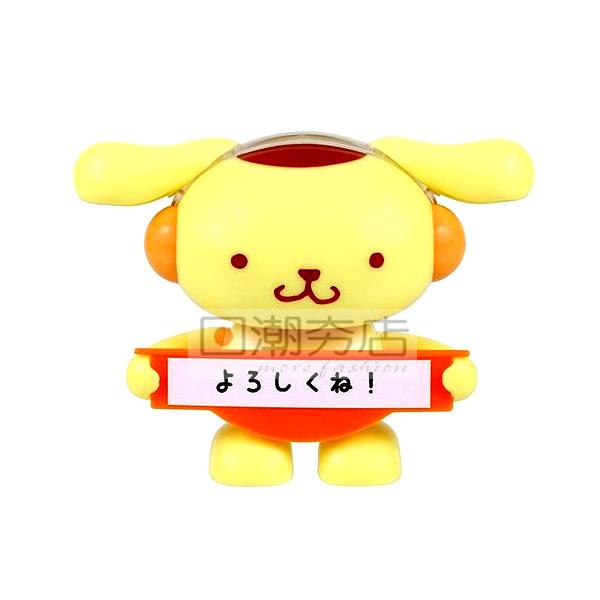 [日潮夯店] 日本正版進口 超可愛布丁狗 搖擺娃娃 太陽能娃娃 留言版 公仔