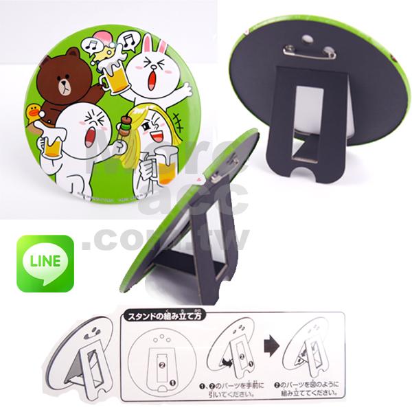 [日潮夯店] 日本正版進口 Line APP系列 兔兔 饅頭人 熊大 徽章 立牌裝飾 杯墊 桌上型