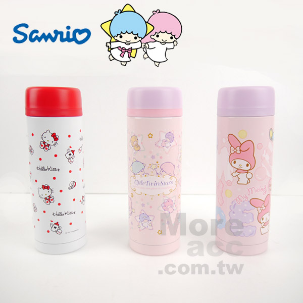 [日潮夯店] 日本正版進口 Sanrio三麗鷗 凱蒂貓 美樂蒂 雙子星 保溫杯 保冷杯 共三款