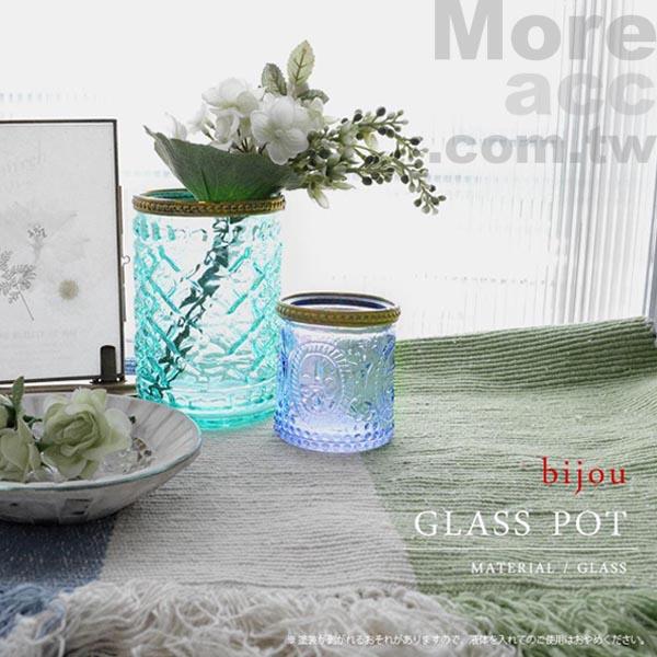 [日潮夯店] 日本正版進口 玻璃 鑲金邊 質感 透明 珠寶盒 飾品盒 小物盒 共四色