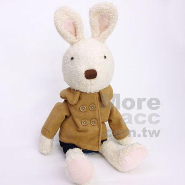 [日潮夯店] 日本正版進口 le sucre 法國兔 砂糖兔 冬天 大衣 娃娃 玩偶 白兔款