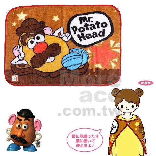 [日潮夯店] 日本正版進口 DISNEY‧PIXAR 玩具總動員 蛋頭先生 馬鈴薯先生 毛毯 披肩 毛絨