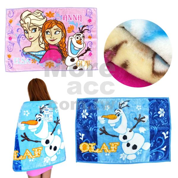 [日潮夯店] 日本正版進口 DISNEY 迪士尼 冰雪奇緣 FROZEN ANNA ELSA OLAF 毛毯 披肩 懶人毯