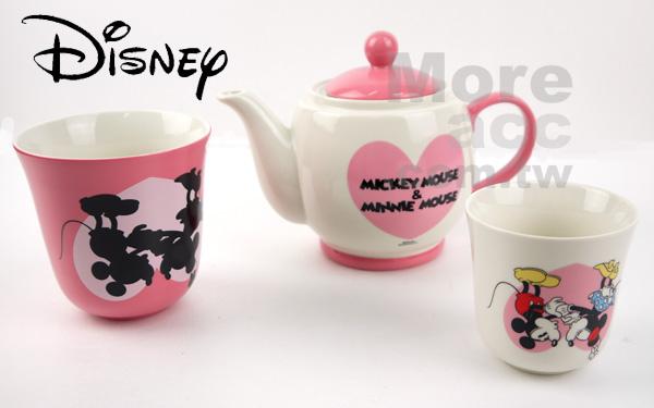 [日潮夯店] 日本正版進口 Disney迪士尼 米奇米妮 陶瓷 馬克杯 茶壺 杯壺組