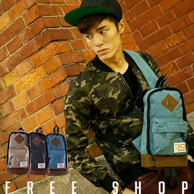 Free Shop【AI12120】韓版水洗帆布麂皮豬鼻底層質感布標斜背包肩背包單車包