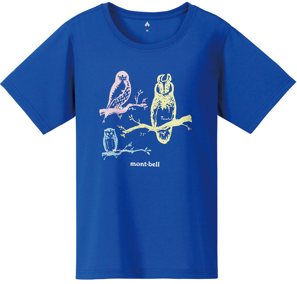 [ Mont-Bell ] WIC.T 排汗T恤/排汗衣 女款 Wickron 1114252 UMR 貓頭鷹 群青藍