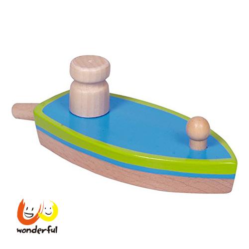 Spiegelburg 氣球動力木製玩具船