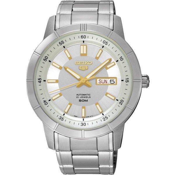 Seiko 精工五號 7S26-04E0Y(SNKN53J1)經典雙日曆腕錶/白面43mm