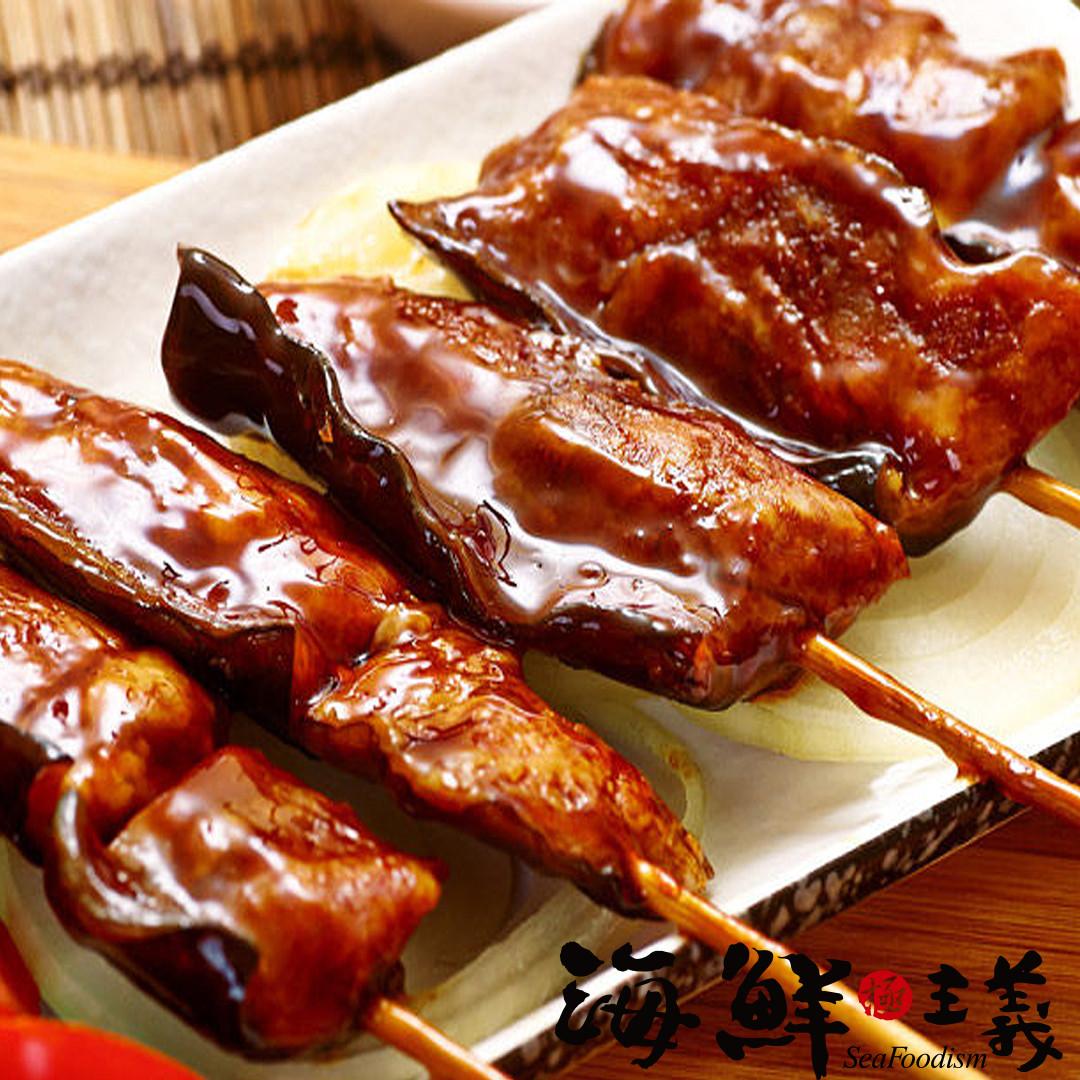 【海鮮主義】蒲燒鰻魚串( 150g/袋) ●蒲燒鰻魚,肉質細嫩,甜鹹適中  ●色香味俱全的蒲燒鰻魚串  ●拆封加熱即可輕鬆品味