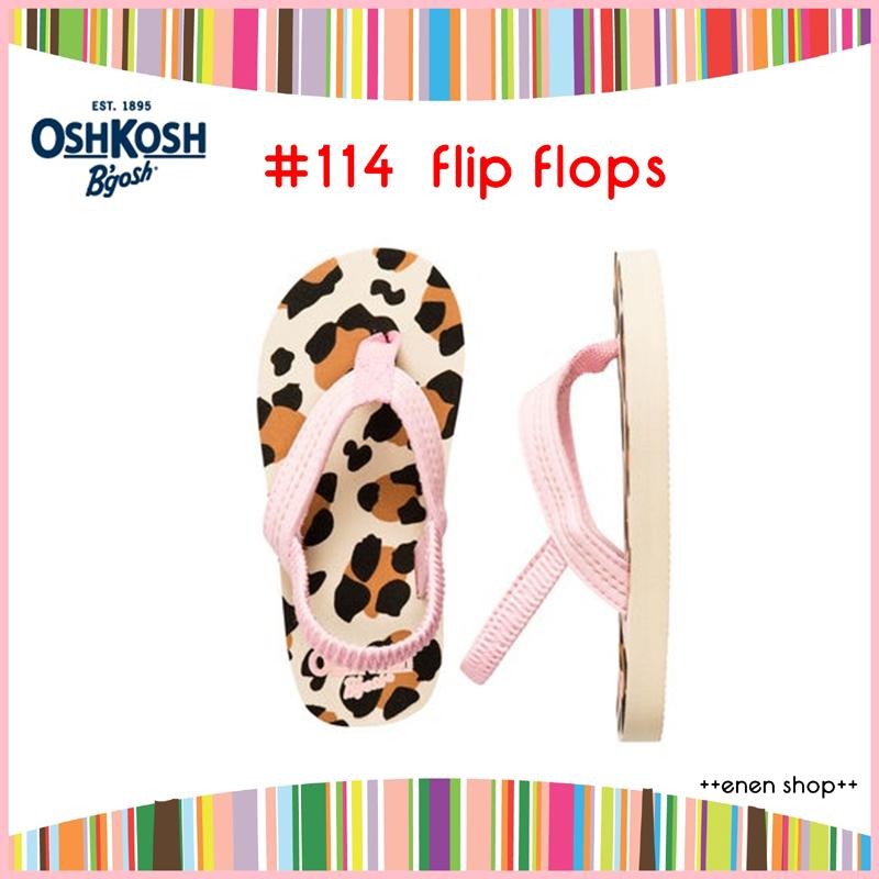 Enen Shop @OshKosh B'gosh 粉豹紋夾腳拖鞋/人字拖/海灘鞋 #114 ∥ L **零碼出清**