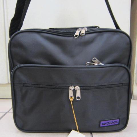 ~雪黛屋~weider 大型文件包 (橫式) 工作袋 工具袋 可手提肩背斜側背防水尼龍布材質#6001黑-紫
