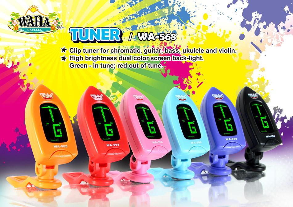 【台灣烏克麗麗 專門店】哇哈 WAHA 烏克麗麗 吉他 專用調音器 WA-568 (共6色)