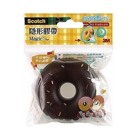 3M #810DD-6【巧克力+咖啡】雙色甜甜圈隱形膠帶造型膠台 ( 19mm x 7.6M )