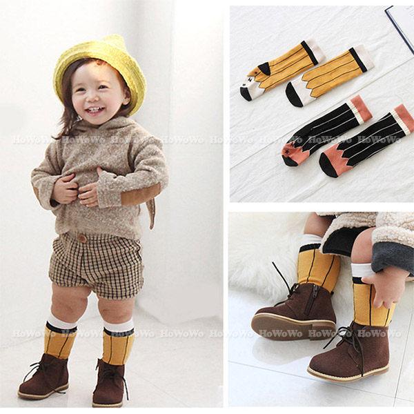 童襪 寶寶襪 卡通鉛筆中筒襪 嬰兒襪 0-4歲 CA1767