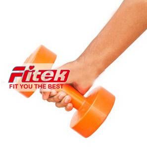 【Fitek健身網】☆3kg啞鈴 (亮橘色)☆3公斤☆有氧韻律運動適用㊣台灣製