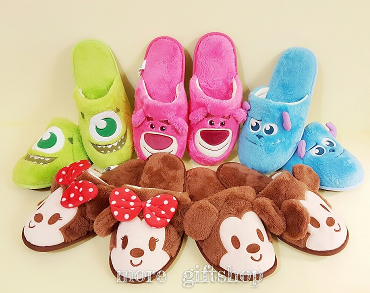 【more 禮品小舖】迪士尼造型室內拖鞋 米奇 米妮 毛怪 大眼仔 史迪奇 熊抱哥  迪士尼枕頭  絨毛娃娃 玩偶