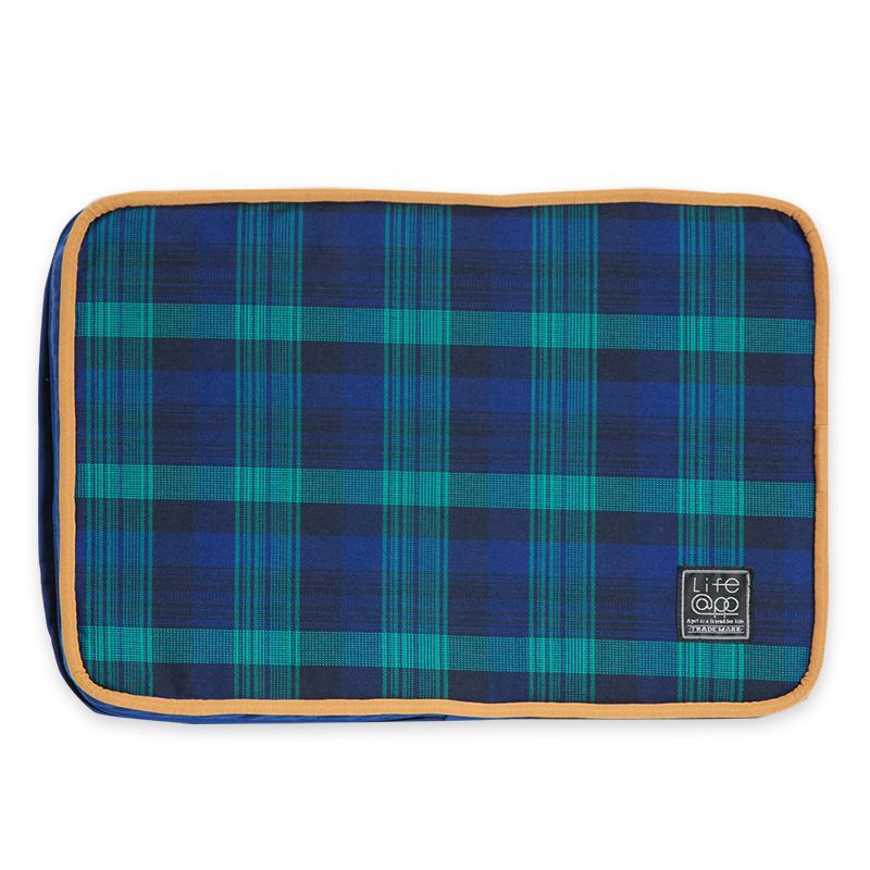 《Lifeapp》睡墊替換布套XS_W45xD30xH5cm (藍格紋)不含睡墊