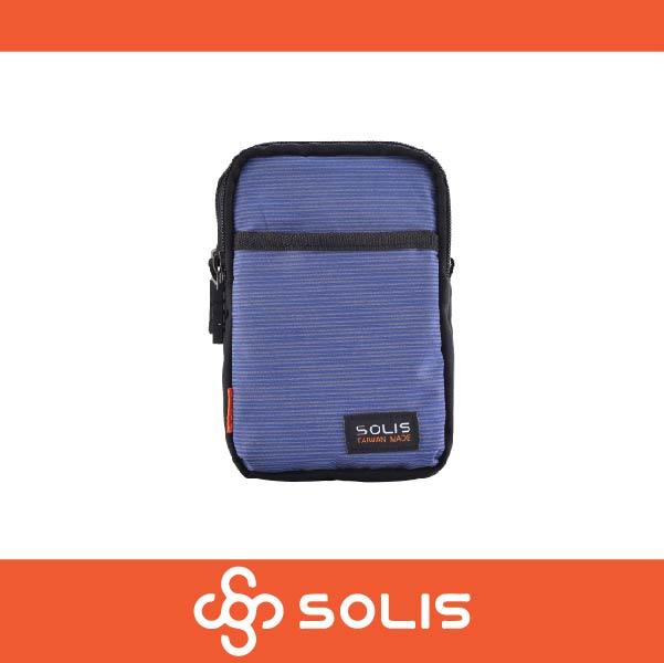 SOLIS B07004 反光印花系列多功能萬用包 側背包 腰包 防潑水 藍紫色 萬特戶外運動