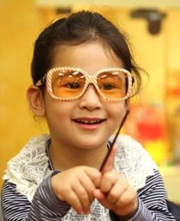 Kocotree◆新款糖果條紋兒童防紫外線太陽眼鏡-黃色條紋