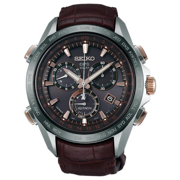 Seiko Astron 8X82-0AB0C(SSE025J1)鈦金屬太陽GPS腕錶/咖啡面44.6mm