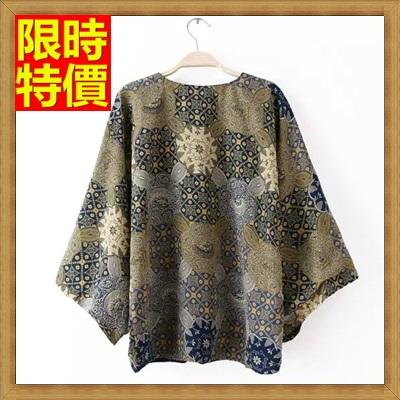 和服外套 和風女罩衫-日式開衫復古印花防曬小外套68af35【日本進口】【米蘭精品】