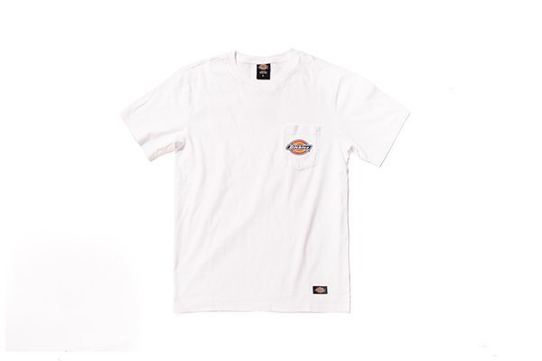 【WOWGOTU DICKIES 代理商授權販售店】DICKIES  Original Logo 口袋短Tee 白
