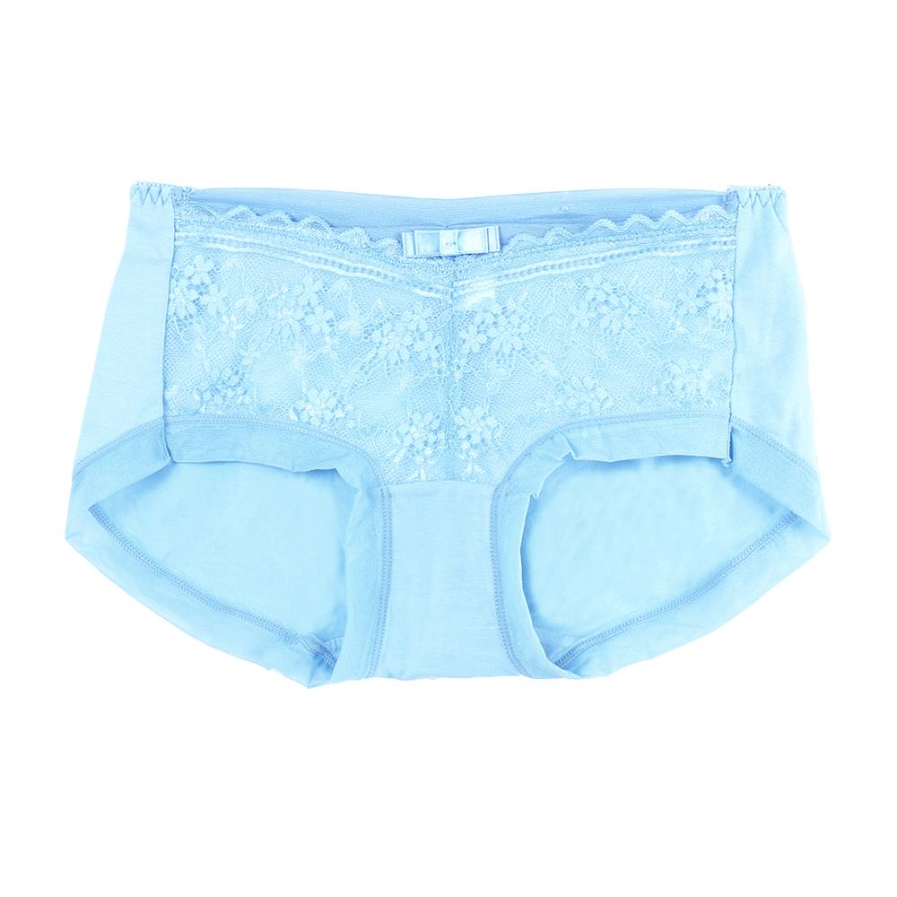 【夢蒂兒】典雅舒適蕾絲平口褲(海洋藍)