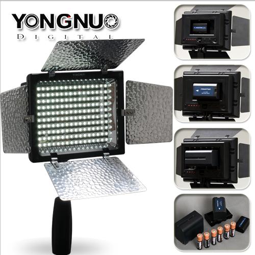 [享樂攝影] 永諾 YN-160 II 2代 機型LED持續燈 錄影燈攝影燈 內建麥克風 收音器 付遙控器 補光燈 參考閃光燈560 YN300 使用3號電池