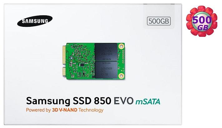 SAMSUNG SSD 850 EVO 500GB【mSATA】MZ-M5E500BW SATA6Gb/s 內接式 筆電固態硬碟