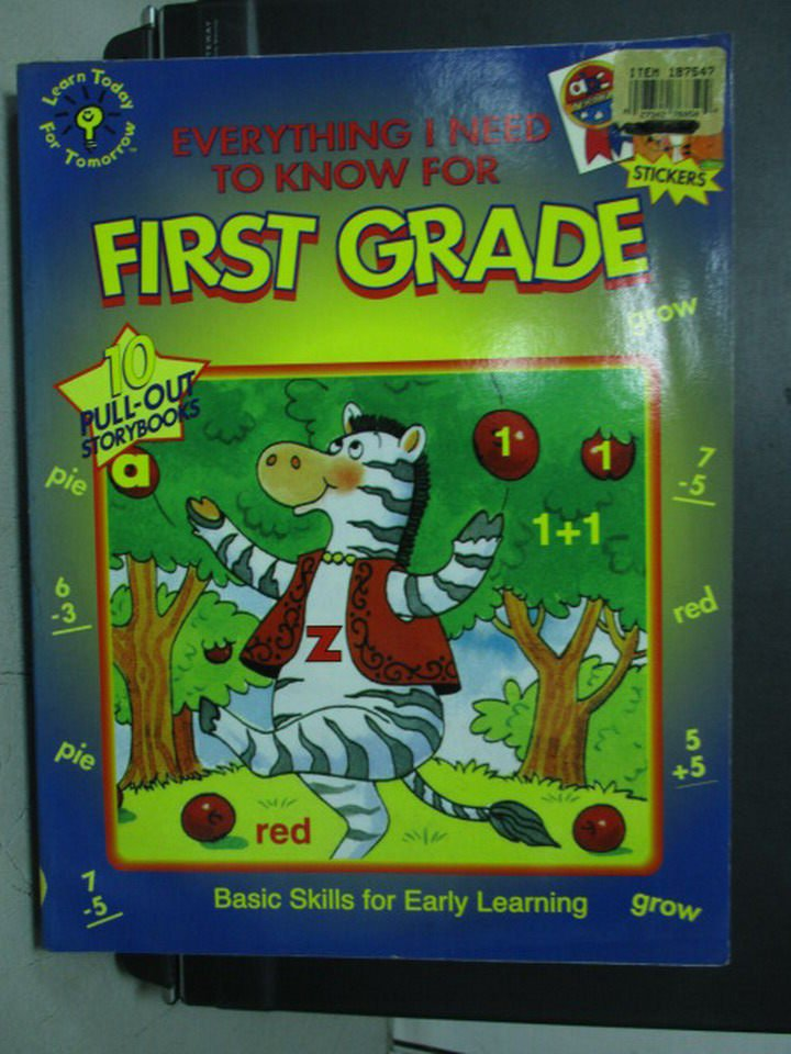 【書寶二手書T6/少年童書_WGN】Everything I Need to Know For First Grade