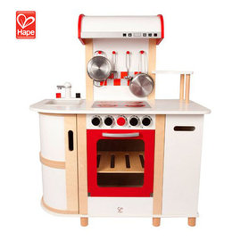 【淘氣寶寶】德國 Hape 愛傑卡廚房系列-豪華版廚具台