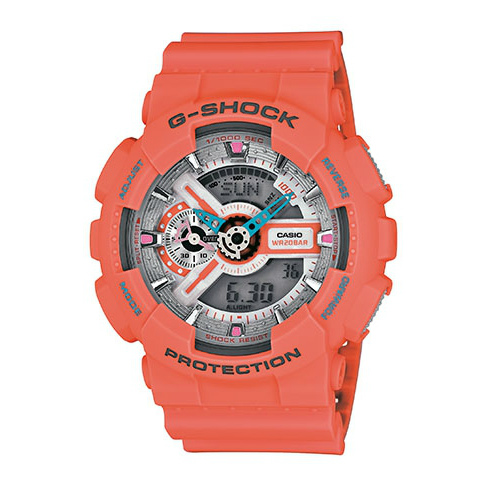 CASIO G-SHOCK GA-110DN-4A質感橘流行腕錶/51mm