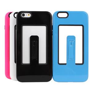 Ultimate- iPhone 6 plus 6+ (5.5吋) 流行插卡支架雙用軟硬殼 保護殼 防摔保護套 彩色背蓋 手機殼 手機套