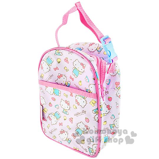 〔小禮堂嬰幼館〕Hello Kitty 奶瓶保溫提袋《粉.蘋果.鬱金香.蝴蝶結》內層鋁箔保冷袋