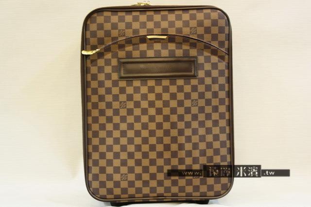 lv 格子 拉桿 行李箱 登機箱 N23256