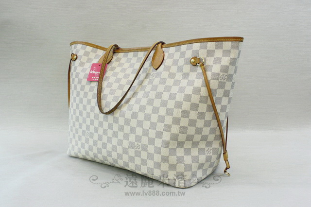 A6763 lv 白格 neverfull GM N41360