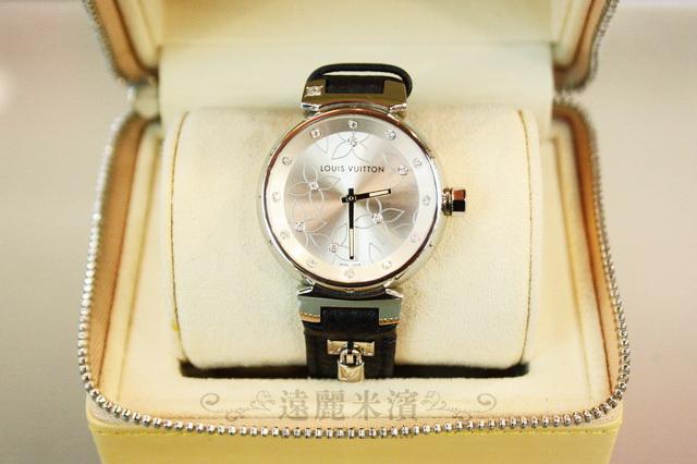 A6716 lv 香檳金 19 點鑽 cup 花瓣 錶面 緞帶 皮帶 女表