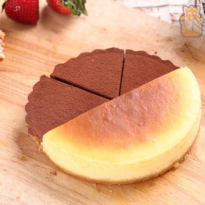 6吋雙拼派:比利時72%生巧克力+紐約重乳酪【布里王子】